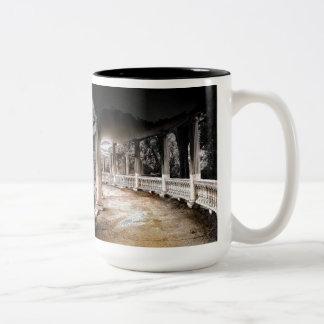 Covered Walkway with Columns Two-Tone Coffee Mug