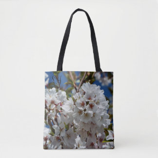 Covered with blossoms tote add your initials