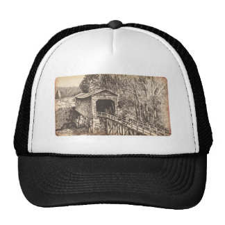 Covered Wooden Bridge Trucker Hat