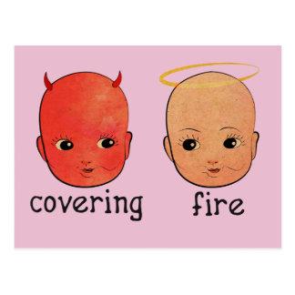 Covering Fire - Sinner & Saint Postcard