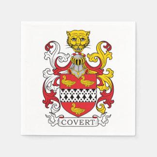 Covert Family Crest Paper Napkin