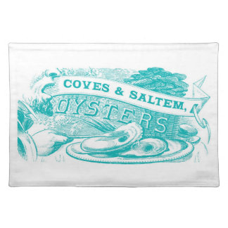 Coves & Saltem Oysters Vintage Placemat