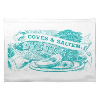 Coves & Saltem Oysters Vintage Placemat