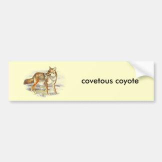 covetous coyote bumper sticker