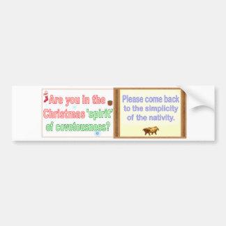 covetousness or idolatry? car bumper sticker