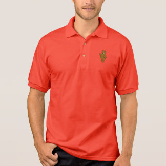 Covey Logic Bear Red Polo Shirt