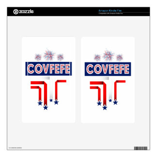 Covfefe Trump Joke for 4th of July Celebration Decal For Kindle Fire