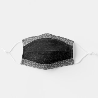 COVID19 Snakeskin with Black Leather Reusable Cloth Face Mask