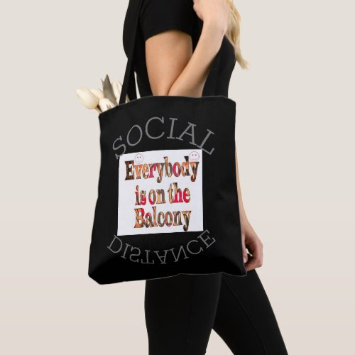 COVID_19 2020 Social Distance We Will Survive Tote Bag