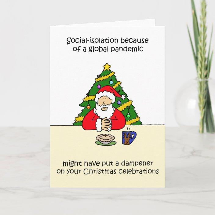 Covid 19 Christmas 2020 Father Christmas Cartoon Card Zazzle Com