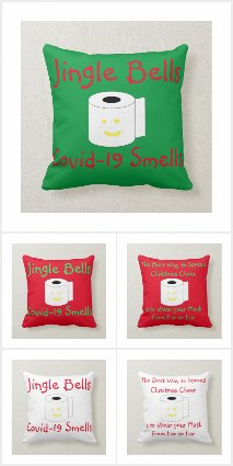 Covid-19 Christmas Pillows