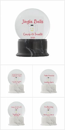 Covid-19 Christmas Snow Globes