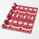 """Covid 19 Ugly Christmas Sweater Wrapping Paper<br><div class=""""desc"""">This fun Covid 19 Christmas wrapping paper is perfect for gifting this holiday season.</div>"""