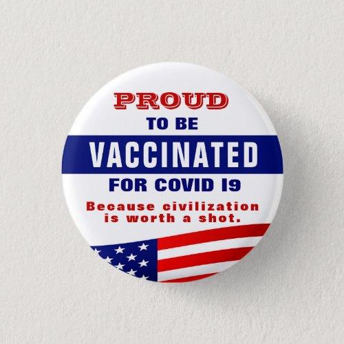 Covid 19 Vaccination  Button