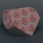 """Covid 19 Virus Neck Tie<br><div class=""""desc"""">Covid 19 Virus necktie see the photo of the virus worked into the tie design. The photo shown has neutral gray background. but I believe you can change the color of the background through Zazzle if need be. gifts for Dr's,  nurses,  medical personal or get well soon patient gifts.</div>"""