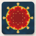Covid Coaster - Navy Orange