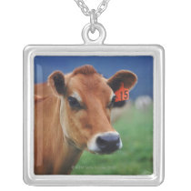 cow 2 silver plated necklace