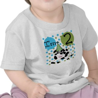 Cow 2nd Birthday T-shirts