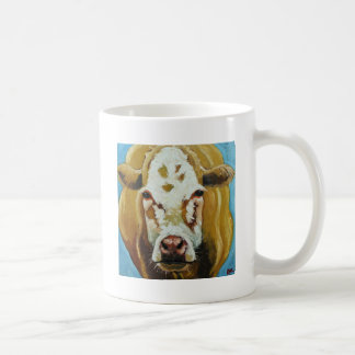 Cow#425-20x20sc Taza Básica Blanca