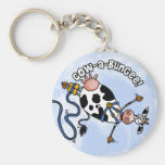 cow-a-bungee keychain