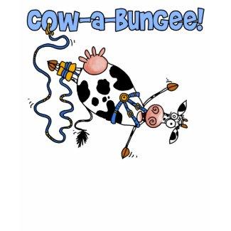 cow-a-bungee shirt shirt