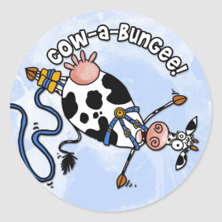 cow-a-bungee stickers