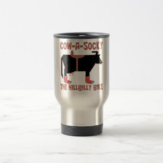 Cow A Socky 15 Oz Stainless Steel Travel Mug