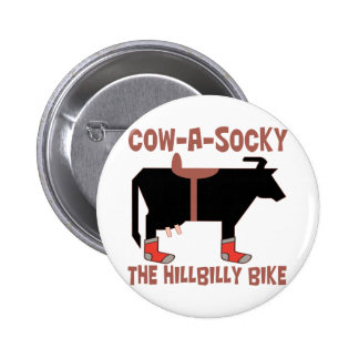 Cow A Socky 2 Inch Round Button