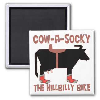 Cow A Socky 2 Inch Square Magnet