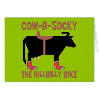 Cow A Socky Greeting Card