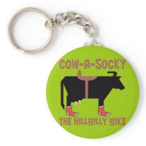 Cow A Socky Keychain
