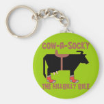 Cow A Socky Keychains