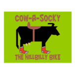 Cow A Socky Postcard