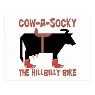 Cow A Socky Post Card
