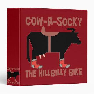 Cow A Socky The Hillbilly Bike 3 Ring Binder
