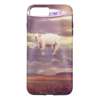 Cow Abducted by Aliens Fantasy Art iPhone 8 Plus/7 Plus Case