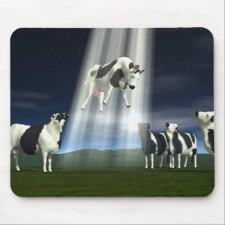 Cow Abduction Mouse Pad