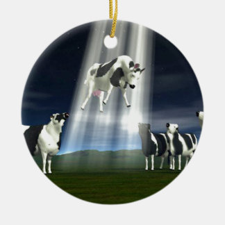 Cow Abduction Christmas Tree Ornaments