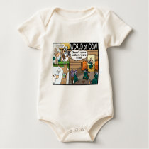 Cow accessibility, cowboy flies, and calender cow baby bodysuit