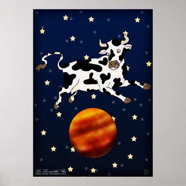 Cow Aims Higher, print print