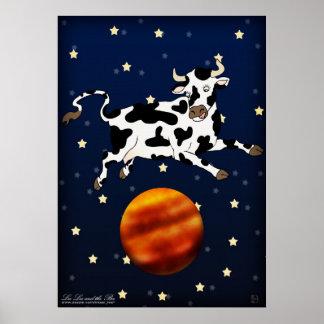 Cow Aims Higher, print