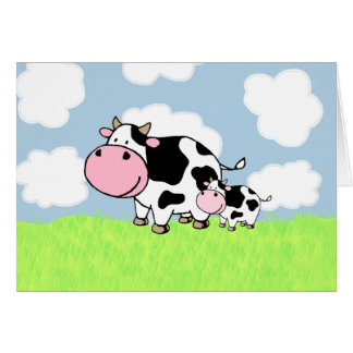 Cow and Baby Card