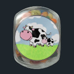 "Cow and Baby Jelly Belly Candy Jar<br><div class=""desc"">A cute cartoon cow with her calf.</div>"