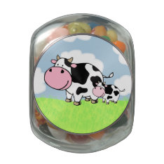 Cow And Baby Jelly Belly Candy Jar at Zazzle