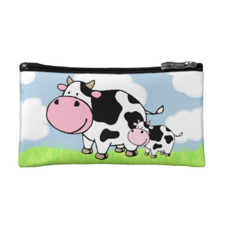 Cow and Baby Makeup Bag