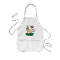 Cow and Butterfly Kids' Apron
