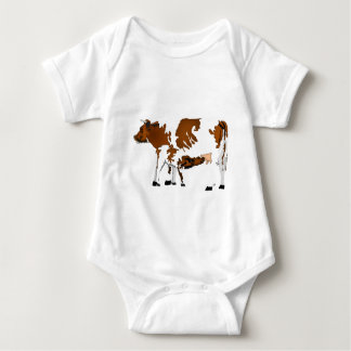 cow and calf baby bodysuit