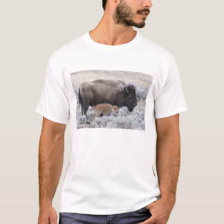 Cow and Calf Bison, Yellowstone 2 T-Shirt