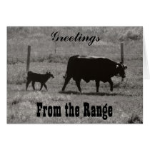 Cow and Calf by Leslie Peppers Card