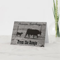 Cow and Calf by Leslie Peppers Holiday Card